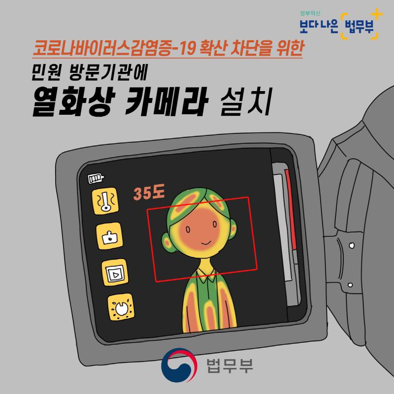 민원 방문기관에 열화상 카메라 설치