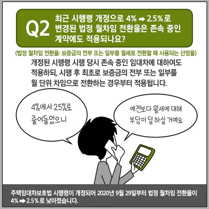 주택임대차보호법 Q&A 4편 전월세 전환